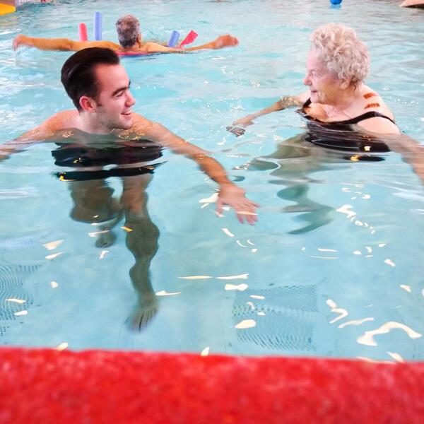 Zwemwens in vervulling
